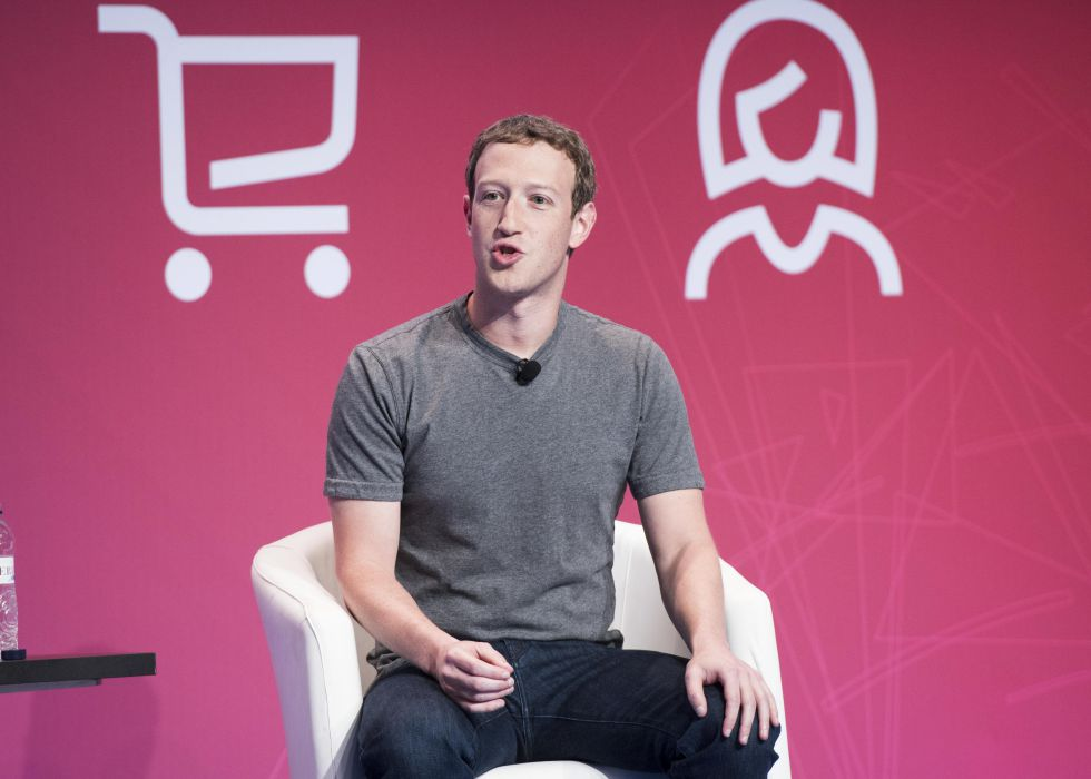 El fundador de Facebook en el Mobile World Congress de Barcelona.