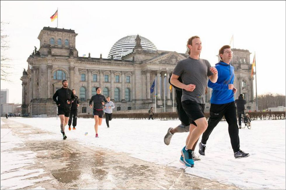 Mark Zuckerberg, corriendo en Berlín.