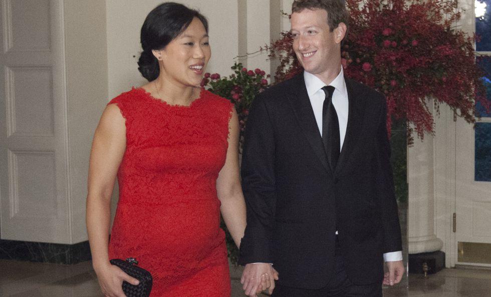 Mark Zuckerberg y su esposa Priscilla Chan, en la cena de Estado que el presidente Obama ofreció a su par chino Xi Jinping en la Casa Blanca.