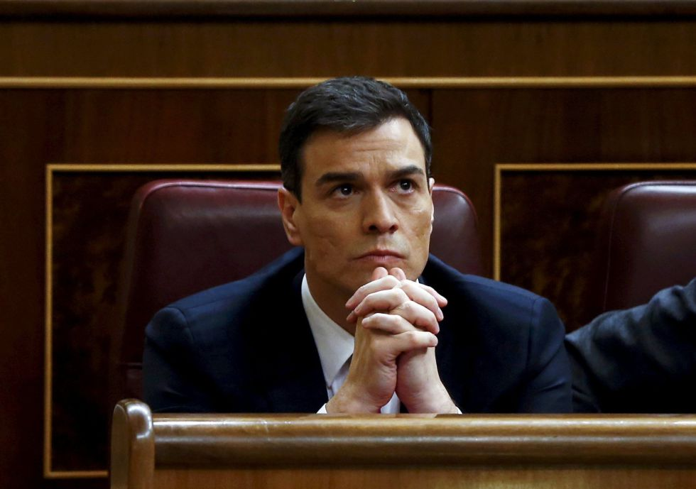 Socialist Party leader Pedro Sánchez during Friday's debate.