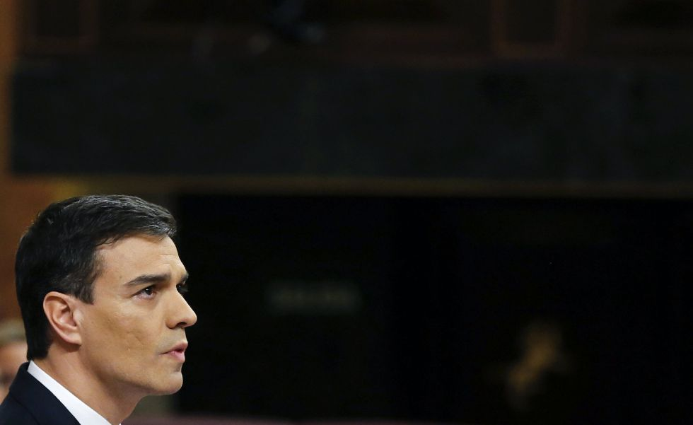 Pedro Sánchez, ayer en el Congreso de los Diputados durante la segunda votación de la investidura.