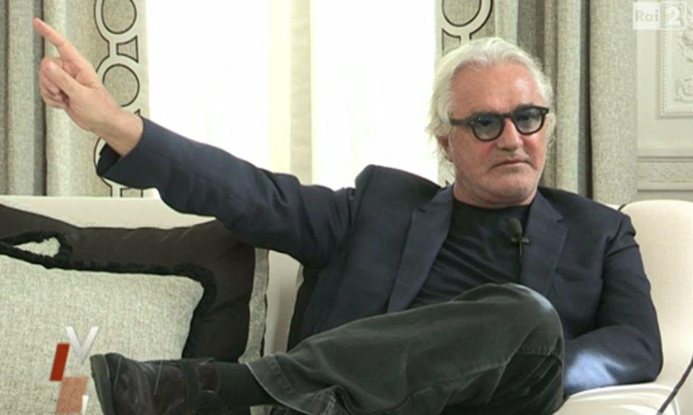 Fotograma de la entrevista a Flavio Briatore en la cadena Rai.