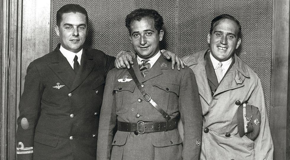 Juan Manuel Durán, Ramón Franco Bahamonde y Julio Ruiz de Alda, artífices del vuelo transatlántico en el Plus Ultra.