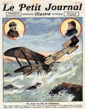 El primer vuelo que surcó el Atlántico Sur fue protagonizado por los portugueses Gago Coutinho y Sacadura Cabral.