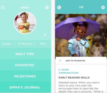 Captura de pantalla de la aplicación 'Grow Parenting'.