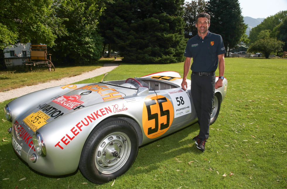 El actor también ha participado en carreras de coches clásicos. En la imagen, en el 'rally' celebrado en Groebming (Austria) el pasado agosto.