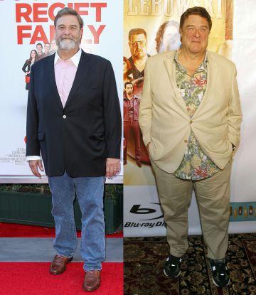 John Goodman en el estreno de 'Love the Coopers' el pasado diciembre. A la derecha, en 2011.