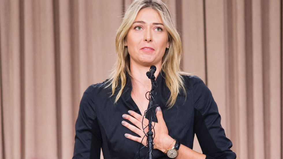Maria Sharapova, durante la rueda de prensa en la que anunció el positivo.