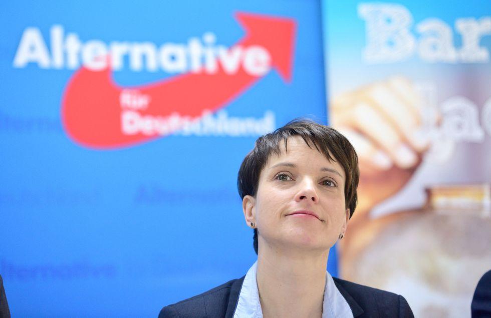 Frauke Petry, presidenta de Alternativa para Alemania, el 29 de febrero en Maguncia.