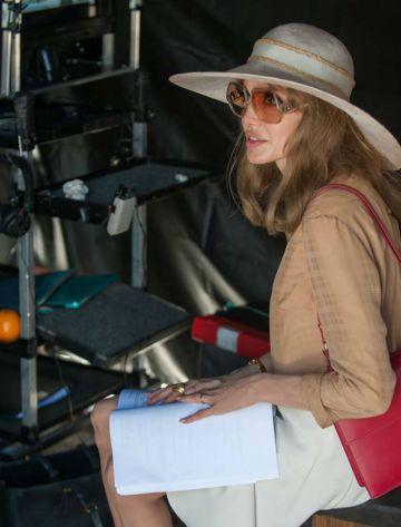 Angelina Jolie durante el rodaje de 'Frente al mar'.
