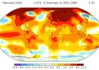 Temperatura média global ultrapassa recorde em fevereiro