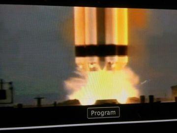 Imagen del momento del despegue del cohete.