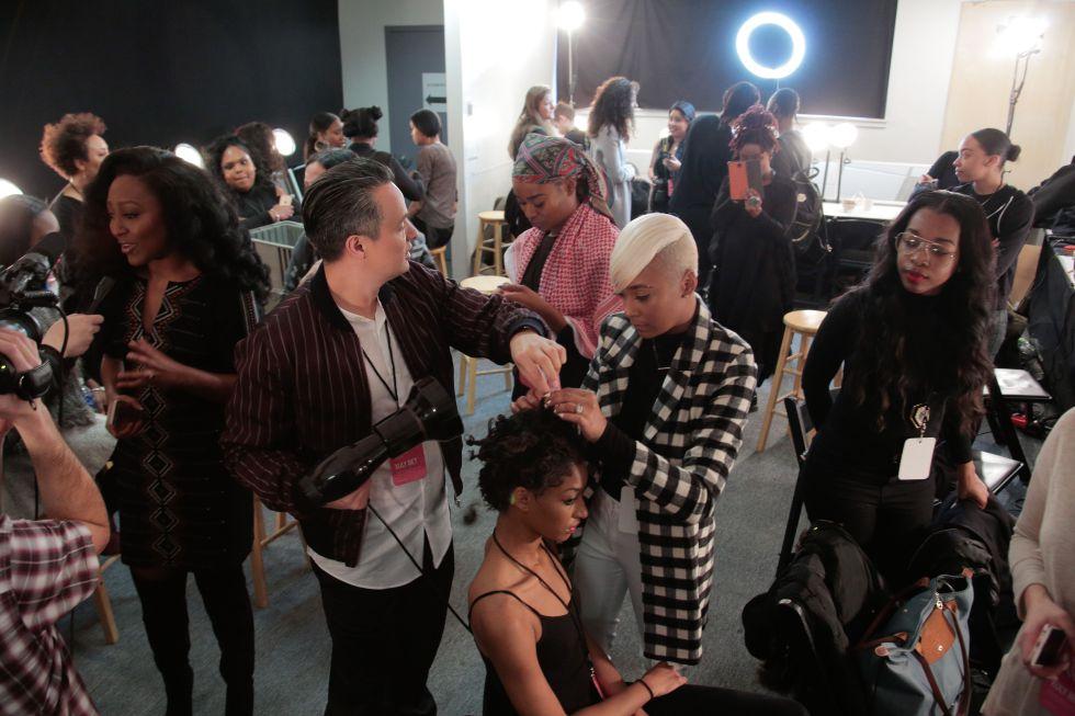 'Backstage' durante la pasada semana de la moda de Nueva York.