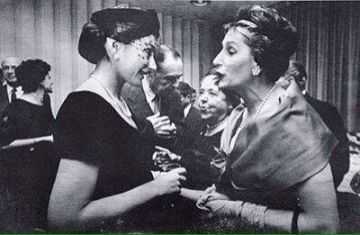 Julita con Maria Callas.