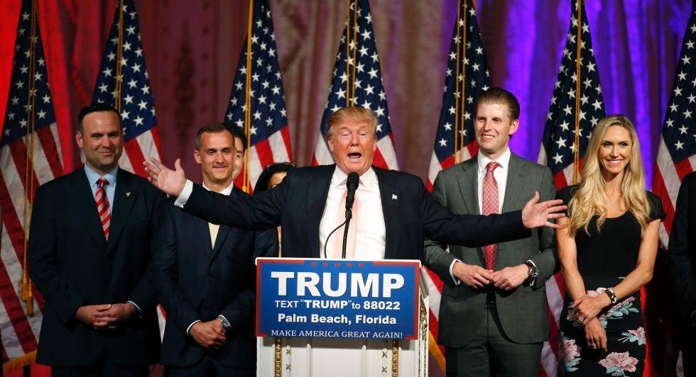 Donald Trump comparece tras ganar en Florida.