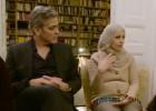 George y Amal Clooney visitan a los refugiados sirios en Berlín