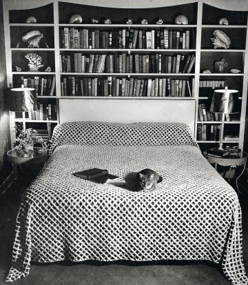 Dormitorio de la escritora, en una imagen tomada en 1937.