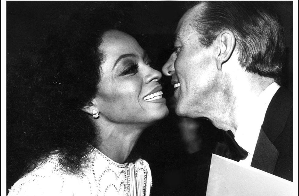 Diana Ross y Halston en Studio 54.