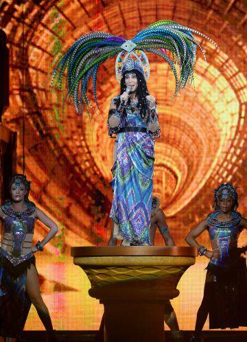 Cher, durante un concierto enel Grand Garden Arena de Las Vegas en mayo de 2014.