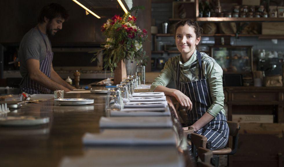 La chef mexicana Elena Reygadas en su restaurante Lardo.