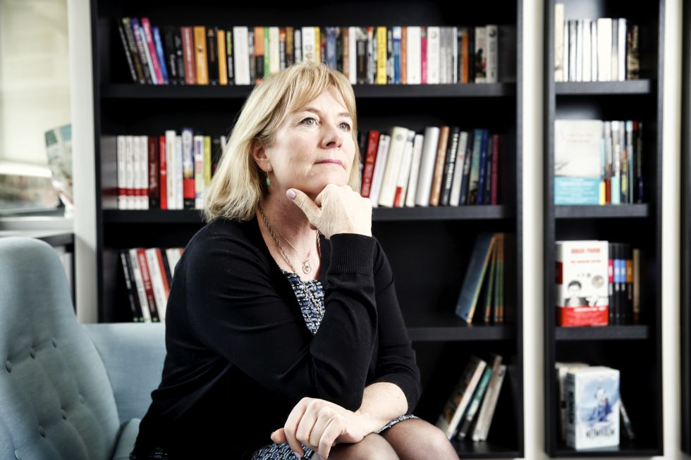 Hannah Rothschild, durante su visita a Madrid, donde ha viajado para presentar su nueva novela, 'La improbabilidad del amor'.