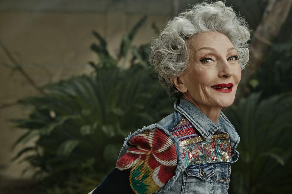 La modelo de 70 años Alicia Borrás para Desigual.