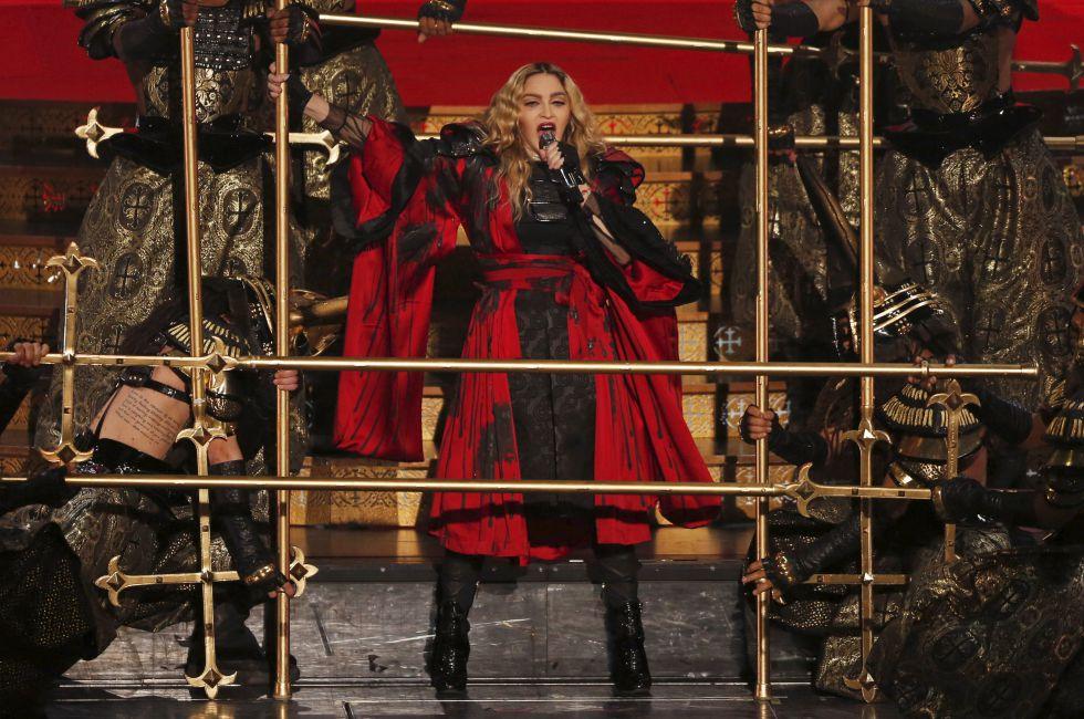 Madonna, en un momento de su actuación en Macao (China) el pasado mes de febrero.