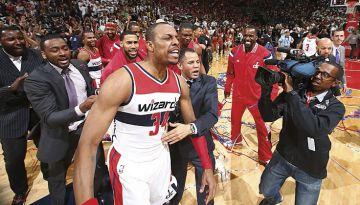 Un triple sobre la bocina de Pierce en el sexto partido de la semifinal de la Conferencia Este forzaba la prórroga entre los Washington Wizards y los Atlanta Hawks. El NBA Replay Center la declaró fuera de tiempo.