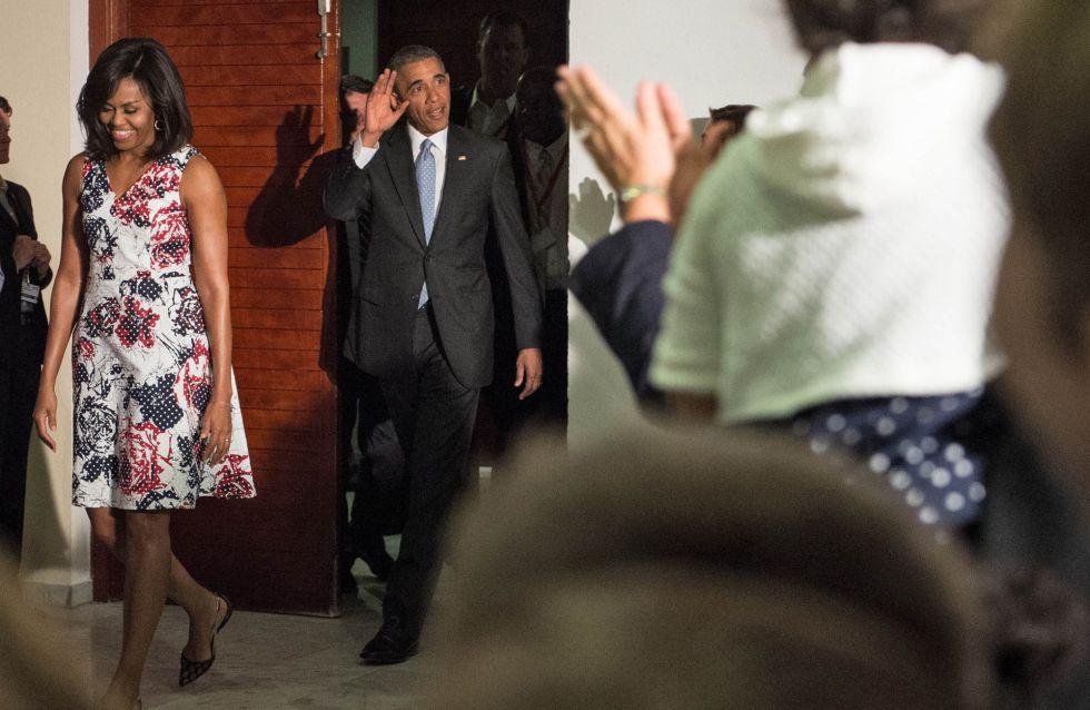El presidente Barack Obama y su esposa Michelle, por las calles de La Habana.