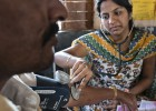 La salud de los desheredados de India llega sobre ruedas