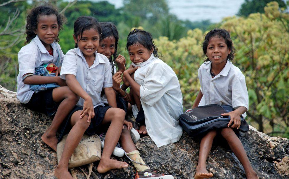 Niñas en Timor-Leste