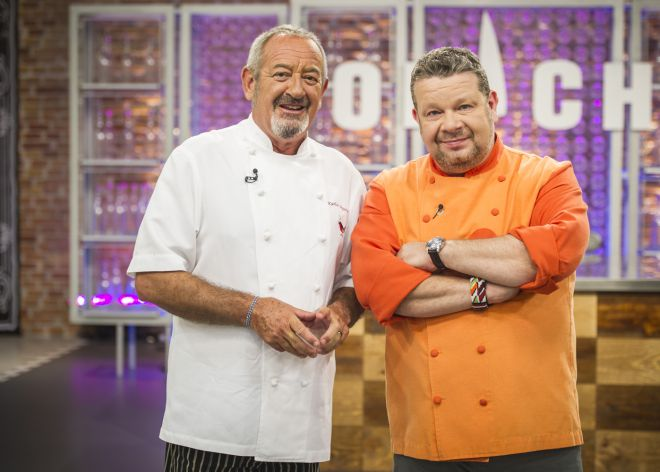 Chicote y Arguiñano, que acudió a Top Chef como juez.
