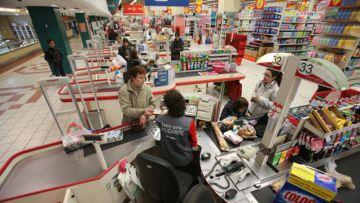 Un supermercado de Alcampo en Coia (Vigo).rn