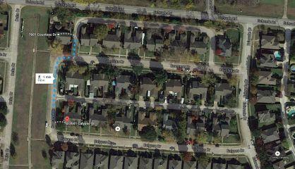 Captura de Google Maps donde se muestran las dos direcciones mal indicadas.