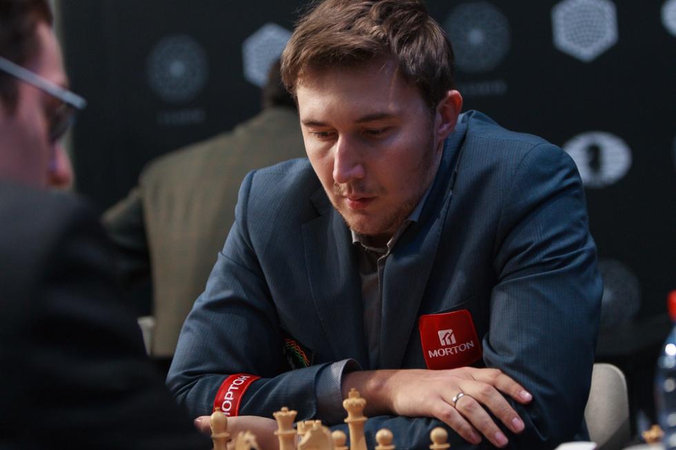 Serguéi Kariakin, al inicio de la partida de hoy en Moscú