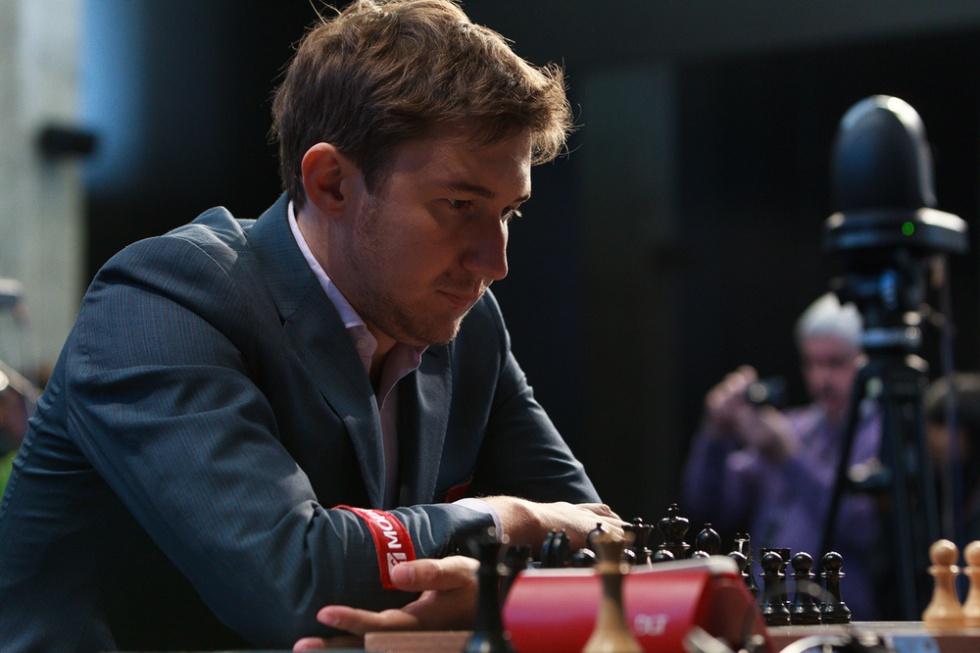 Serguéi Kariakin, durante una de las partidas del Torneo de Candidatos, hace unos días en Moscú.