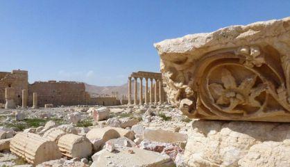 Vista general de Palmira en una imagen tomada el domingo.