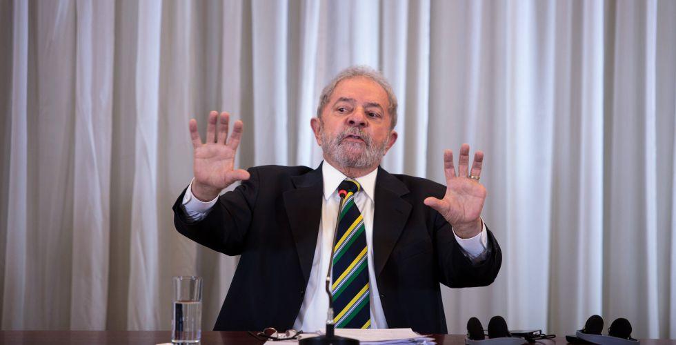 Lula, durante una conferencia de prensa en Sao Paulo este lunes.