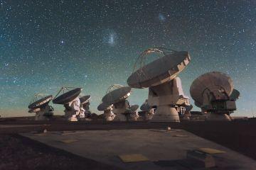 Antenas del radiotelescopio internacional ALMA, en Chile.