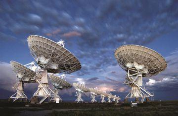 Antenas del radiotelescopio VLA, en Nuevo México (EE. UU.).