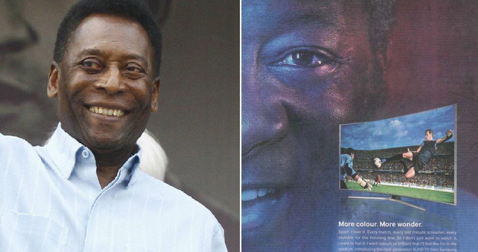 El exjugador de fútbol Pelé y el anuncio con el hombre que se le parece.