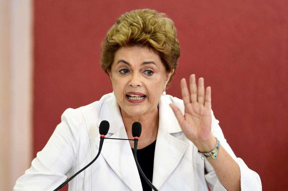 Dilma Rousseff, durante una rueda de prensa ayer en Brasilia.