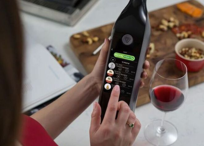 Así es la primera botella de vino inteligente