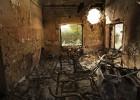 Un hospital reducido a escombros