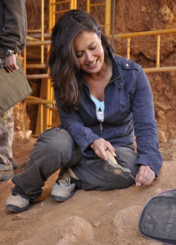 María Martinón Torres, excavando en Atapuerca.