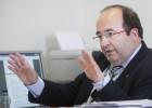 Miquel Iceta, en un momento de la entrevista