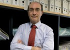 El juez Juan Carlos Mompó, en el juzgado de Primera Instancia de Valencia.
