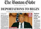 'The Boston Globe' pone a Trump como presidente en una falsa portada