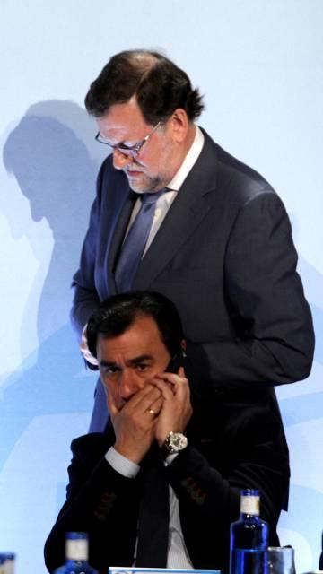 Mariano Rajoy, durante un acto de su partido celebrado en Cuenca el 14 de abril de 2016.