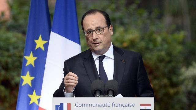 Hollande en El Cairo.